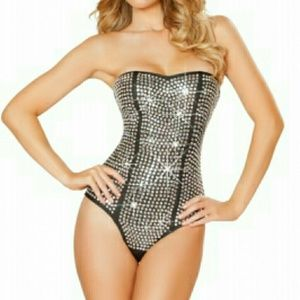 Roma Naughty Rhinestone Rabbit Costume